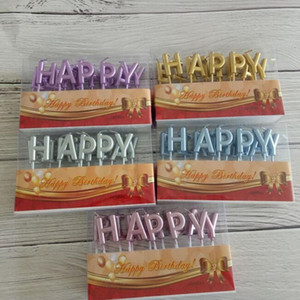 Gold Splitter Rot Happy Birthday Brief Kuchen Geburtstag Party Festival Liefert Reizende Geburtstag Kerzen Für Küche Backen Geschenk
