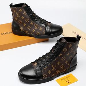 ModaLüksKökeni Kutusu Dövme Sneaker B ile LV Yeni Erkek Ayakkabı Lüks Zapatos de hombre Erkek Ayakkabı Moda Bottes Hommes Lüks