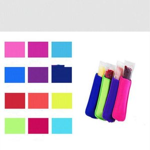 I titolari Popsicle Sleeve Solid titolari Color Pop Maniche Ice neoprene Freezer Ice Bag gelato dei capretti di estate Holder Utensili da cucina CLS615-2Q