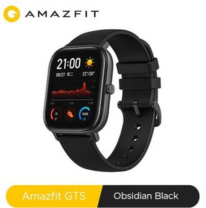 Versión global NUEVO Amazfit GTS reloj elegante impermeable 5 ATM Piscina SmartWatch 14Days Music Control de batería para Xiaomi IOS Teléfono