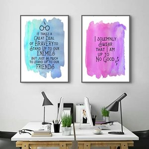 2 шт цитаты в гарри поттер HD печать на холсте картина современный гарри поттер плакат для детской комнаты домашнего декора (без рамки)
