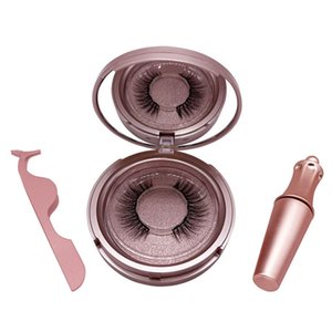 Personnalisé 3D Vison Cils 5 Traceur liquide magnétique avec brucelles Set magnétique Cils faux cils imperméable Maquillage Lashes Mink Maquiagem