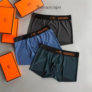 Boxed luxe Sous 3 pièces Box-emballés marque de mode Lettre Underpants européenne américaine Close-montage Sous-vêtements Lettre hommes