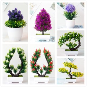 2020 Artificial Plant Bonsai Small Tree Potted Plant Simulation Plant Fake Flower for DIY Home Party Decoration Hotel Garden Decor