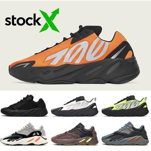 2020 New Kanye West 700 Orange Schwarz Laufschuhe Wave Runner Fest Grau 700 V2 Mauve Carbon-Blau Kinder Herren Turnschuhe Frauen Turnschuhe