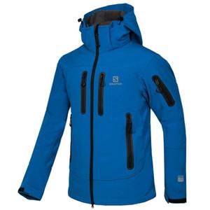 Ücretsiz kargo erkek açık kamp yürüyüş spor ceket rüzgarlık yumuşak kabuk ceket açık spor ceket