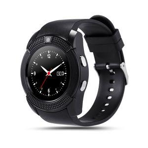 V8 intelligent Montre bracelet Avec Sim TF fente pour carte Bluetooth adapté pour ios Android Phone Smartwatch IPS HD Full Circle MTK6261D Display