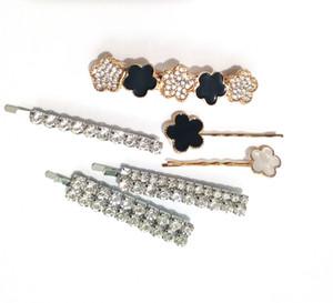 Arbeiten Sie Perlen-Haarspange Kristallrhinestones BobbyPin Epoxy Barrette-Stick Hairpin für Frauen Werkzeug Designer Hair Styling-Zubehör