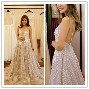 Abendkleider 2020 ogstuff Sexy A-ligne Paillettes Robes de bal Sequin Spaghetti élégante dentelle SOIRÉE formelle Robes