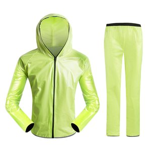 Waterproof Breathable Cycling Raincoat Split Bike Jersey Set Poncho For Cycling Running Mountaineering and Hiking L