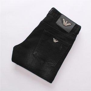 Disfrutar de los hombres del desgaste de diseños originales Hombre Jeans Pantalones de la manera perfecta de calidad pantalones rectos delgado y cómodo