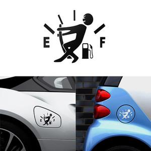 Komik Araba Sticker Tam Hellaflush Yansıtıcı Vinil Araba Için Yakıt Tankı Işaretçi Çekin Araba Yakıt Tankı Çıkartm ...