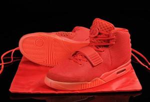 (Con la caja) SP octubre Hombres Baloncesto Kanye West II 2 resplandor oscuro 2s calzado deportivo zapatillas de deporte de las mujeres de los zapatos S 40-47