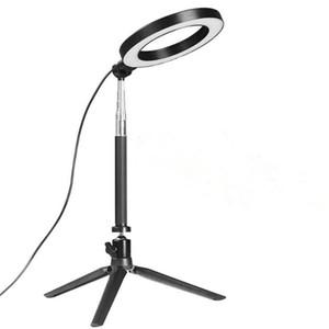 Pode ser escurecido LEVOU Estúdio Câmera Luz Anel de Luz Da Foto Do Telefone de Vídeo Lâmpada Anular Com Tripé Selfie Vara anel de preenchimento de luz para canon nikon camera