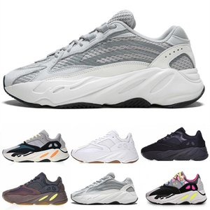 2019 New 700 Wave Mauve EE9614 B75571 Casual Shoes Men Women B75571 Stitching Color Top Quality Athletics mens US 5-11.5