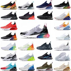 270 Universidade Red Hot Parra perfurador Photo Blue Mens Women Running Shoes Branco Triplo Olive Volt Habanero 27C Flair 270S Sneakers 36-45