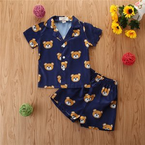 2020 new boy suit cartoon printed short-sleeved suit summer shorts two-piece suit small children's clothing