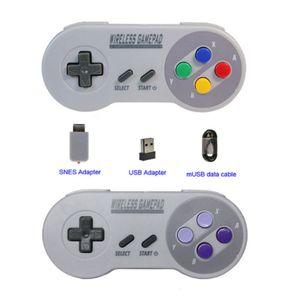 Wireless-Gamepads 2,4GHz Joypad Joystick-Controller für SNES NES Classic Mini Fenster IOS Android Raspberry Pi Console remote