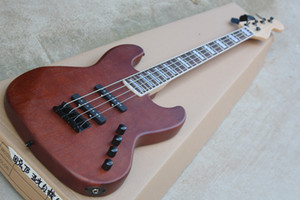 Nuovi 4 stringhe 24 tasti Tastiera in palissandro F opaca Body Electric Bass Guitar con Active circuito, hardware nero, 2 pickup, offrire personalizzare