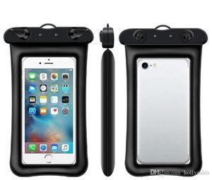 Airbag universal flotador Natación impermeable bolsa de teléfono móvil cubierta de la caja seca PouchDiving deriva separadora Trekking Bolsas