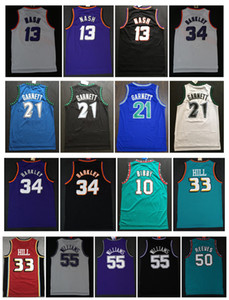 Charles Barkley 34 maglie di sovvenzione Steve Nash 13 Kevin Garnett 21 33 Hill ason 55 Williams Mike10 Bibby 50 Reeves College Basketball Jersey