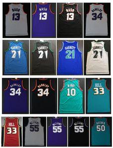 Charles Barkley 34 Trikots Grant-Steve Nash 13 Kevin Garnett 21 33 Hill ason 55 Williams Mike10 Bibby 50 Reeves College Basketball Jersey