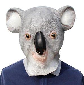 Holloween koala máscara de la novedad linda del partido del traje de lujo de Halloween koala animal Cabeza de látex máscara de la máscara del partido