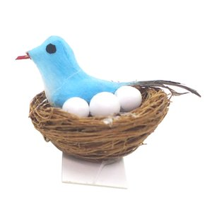 1 12 Miniatures Dollhouse Miniature Bird Nest For Fairy Garden Decoration