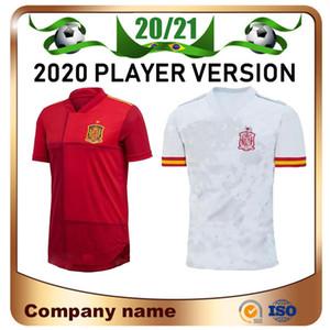 2020 oyuncu versiyonu Avrupa İspanya ev Kırmızı Futbol 19/20 Pike A. INİESTA SERGİO Futbol gömlek RAMOS Asensio Isco Saul uzakta Futbol üniforma
