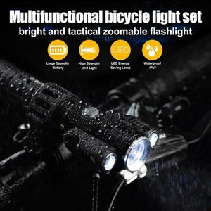 USB Bike Light Set Super Bright Headlight Front Lights Back Rear Light Bicycles Mountain Bike ASD88