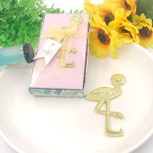 50PCS Gold-Flamingo Flaschenöffner in Geschenkbox Hochzeit Giveaways Partei Return Geschenk FREIES VERSCHIFFEN