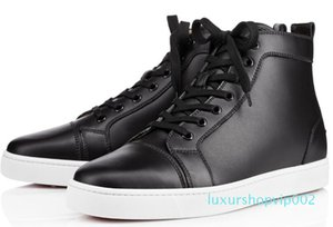 2019 Red Bottom Designers Casual Shoes Sneakers Black Orlato Flats High Top Party Lovers Ladies Ace Genuine Leather Mens Womens New Shoes