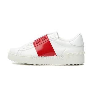 Valentino Hot Projeto Chaussures Modo Blanc Hommes Femmes En Cuir Casual Ouvert Bas cestas Esporte Taille 35-46