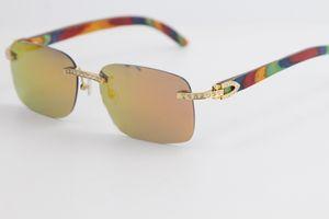 La migliore vendita del diamante degli occhiali da sole unisex fashionWood occhiali da sole senza cornice piccola cornice quadrata Retro moderno design d'avanguardia degli occhiali 9.200.759