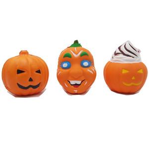 Jumbo Squishy Starry visage de citrouille de Ghost lente Rebond Jouets Décompression Squishies main Squeezed jouets pour enfants Halloween cadeaux enfants jouets