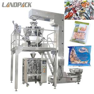 Otomatik Tartım Dondurulmuş Karides Dondurulmuş Deniz Ürünleri Dondurulmuş Gıda Dikey Form Doldurma Mühür Paketleme Makinesi Satılık