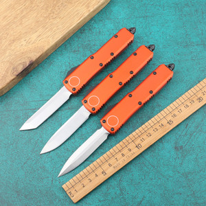 faca única ação! Tecnologia acção dupla D2 sobrevivência faca faca dobrável identificador de alumínio 6061-T6 de revestimento preto surviva exterior tático