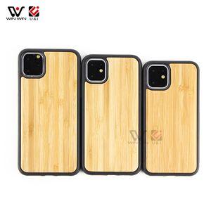 العرف تصميم السلس خشب الخيزران حالات الهاتف للحصول على اي فون 6 7 8 X 11 برو ماكس