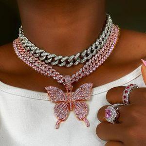 Маркиза глаз cz Шарм обледенелый bling кубический цирконий Майами кубинский звено цепи колье ожерелье для женщин