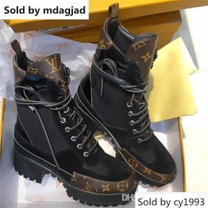 Laureate Desert Boots Kadın Deri Casual Baskılı Tasarımcı Ayakkabı Bayanlar Platformu Topuklar Bilek Bootie Martin Boots ile Kutusu