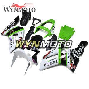 Branco Verde ABS Plástico Motocicleta Carenagem Completa Kit Para Kawasaki ZX6R ZX-6R Ninja 2003 2004 Corpo Kits Injeção Capotas ZX-6R 03 04 Novo