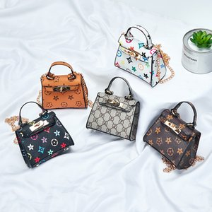 Children Printed Mini Bag 2020 New Fashion Baby Girls Letter Floral Kelly Bag Personality Kids Accessories Shoulder Bag Change Purse S248