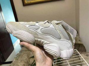 [with box] fashion luxury off men women Kanye designer platform basketball shoes for mens 500 salt bone white sneakers loafer star casual
