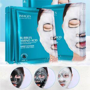 2019 Görüntüler Amino Asit Bambu Kömür Oksijen Kabarcık Temizleme Maskesi Nemlendirici Yağ Kontrolü Köpük Maskesi Maskeli Deniz Tuzu