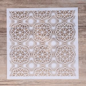 13 cm DIY Craft Layering Geometric Stencil For Walls Painting Scrapbooking Stamping Album Decorative Embossing Paper Cards Decorative Sticke