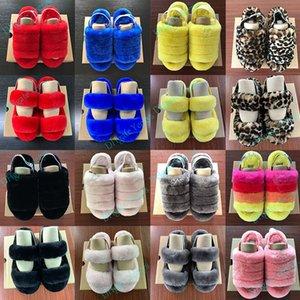 Mulheres Homens Furry Chinelos Fur Sandale Moda Luxo Designer Platform Wedges Salto Sandals Slipper Flip Flops Sandália Oh Fluff Sim Slides B