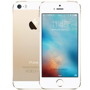 """Original Apple iPhone 5S With Touch ID 16GB iOS 8 4.0"""" IPS HD Dual Core A7 8MP Refurbished Unlocked Cell Phone"""
