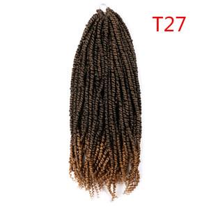 Passion Twist Cheveux Synthetic Kinky Curly Spring Spring Twist Crochet Tresse Coiffe 100g / PC Extension de cheveux pour femmes noires