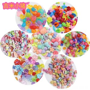 50pcs Beads juguetes para los niños Regalo de la muchacha DIY órbitas creatividad pulsera / joyería que hace Otros juguetes para bebés Niños Cordón Costura juguete al por mayor