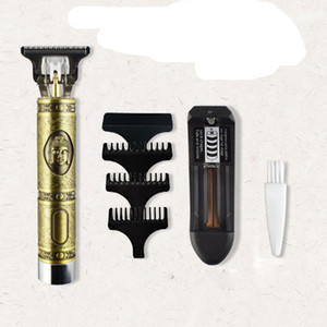 Close-cutting Digital Hair Trimmer Rechargeable Electric Hair Clipper Gold Barbershop Cordless 0mm T-blade Baldheaded Outliner Men VS Kemei